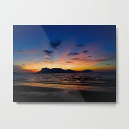Sunset in Borneo Metal Print