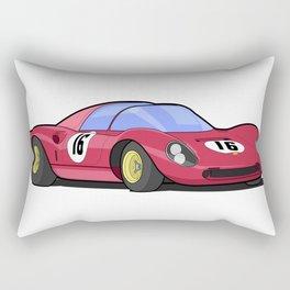 Historic racing car -  Dino 206 SP Rectangular Pillow