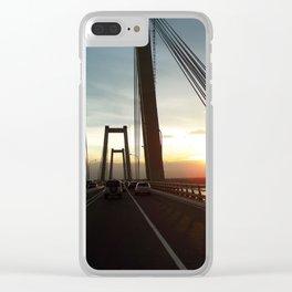 The Lake Maracaibo Bridge - III Clear iPhone Case