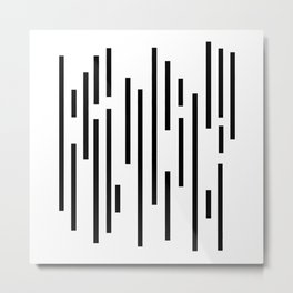 Minimal Lines - Black Metal Print