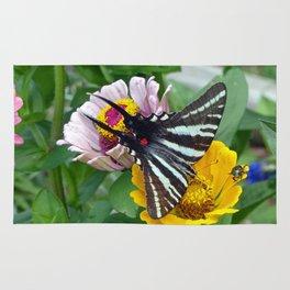 Zebra Swallowtail Butterfly Rug