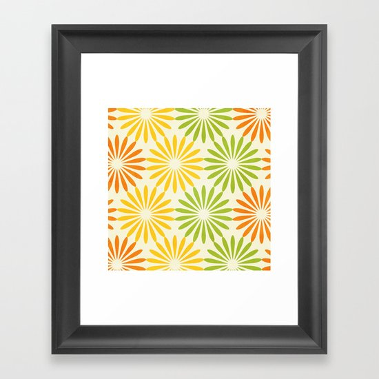 Zesty Burst Framed Art Print