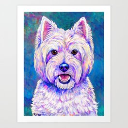 Happiness - West Highland White Terrier Art Print