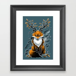 Deer Fox Framed Art Print