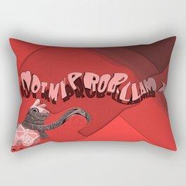 not my prob-llama poster Rectangular Pillow