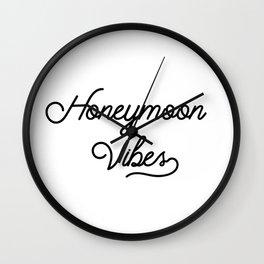 Honeymoon Vibes Newlywed Design Wall Clock
