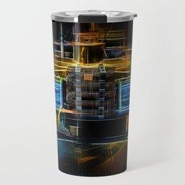 Fractal Car Neon Light Travel Mug