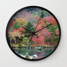 Autumn color in Japan - the beauty of nature Wall Clock