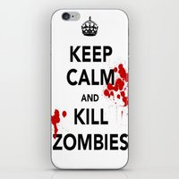 zombies iPhone & iPod Skins featuring ZOMBIES by Tania Joy