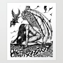 Nobody's Perfect (Black & White) Art Print