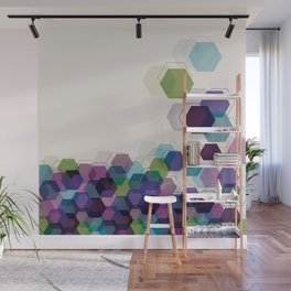 Hex Wall Mural
