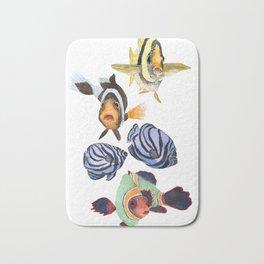 Tropical fish social Bath Mat