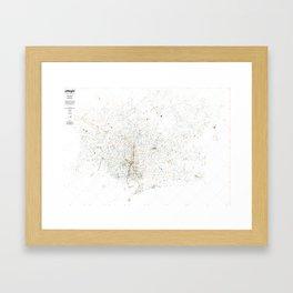 atNight / Barcelona night and day Framed Art Print