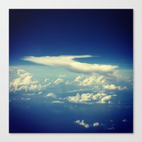 cloud Canvas Prints featuring  Cloud by Sumii Haleem