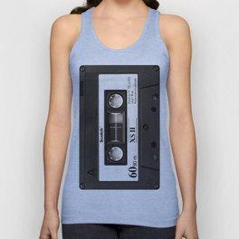 Cassette Tape Black And White #decor #homedecor #society6 Unisex Tank Top