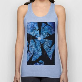 Looking up at Midnight Trees Unisex Tank Top