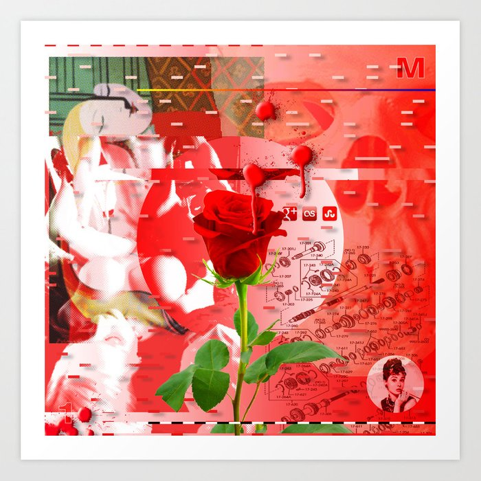 Forget It < The NO Series (Red) Art Print