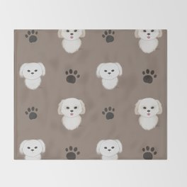 Pattern of Pups Throw Blanket