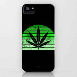 Retro Cannabis Leaf | Smoke Weed 420 Pot Gifts iPhone Case