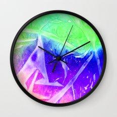 Aurora 3 - Green Sky Wall Clock