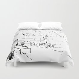 Architecture Handdcrafting Duvet Cover