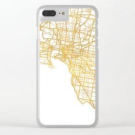 MELBOURNE AUSTRALIA CITY STREET MAP ART Clear iPhone Case