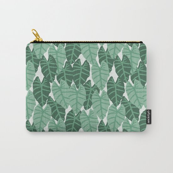Alocasia indoor house plant hipster watercolor plant pattern botanical leaves green painting home Carry-All Pouch