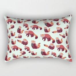 Red Panda Pattern Rectangular Pillow