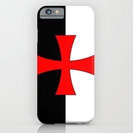 Knights Templar Flag iPhone Case
