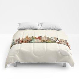 las vegas skyline Comforters