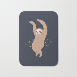 Sloth Galaxy Bath Mat