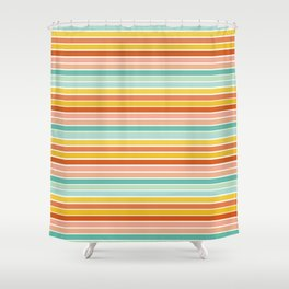 Over Striped Shower Curtain
