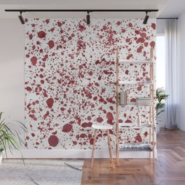 Blood Spatter Wall Mural