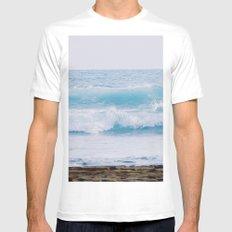 Pastel Ocean #waves MEDIUM White Mens Fitted Tee