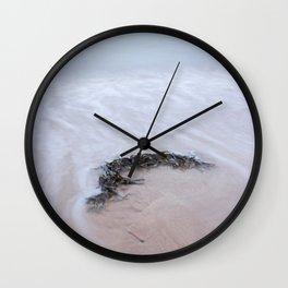 Seaweed long exposure gower Wall Clock