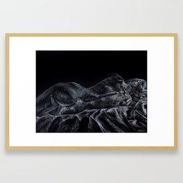 Nude Female Resting on Side Framed Art Print