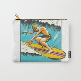 Virginia Beach Retro Vintage Surfer Carry-All Pouch