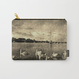 Serene Swans Vintage Carry-All Pouch