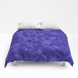 Flower Pattern (Blue version) Comforters