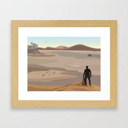 Finn on Jakku Framed Art Print