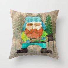 Lumberjack Attack, Modern Mr. Lumberjack Throw Pillow