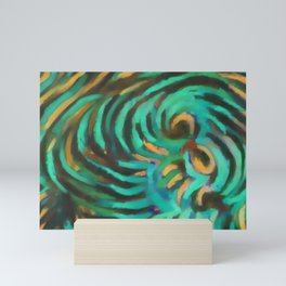 Abstract #1 Turquoise Mini Art Print