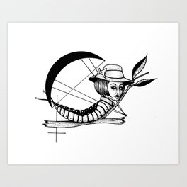 Bad Karma Art Print