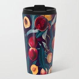 Nectarine and Leaf pattern Travel Mug