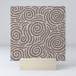 Ripple Effect Pattern Beige Mini Art Print