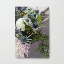 Eryningum in Blue  |  Fresh Cut Flowers Metal Print