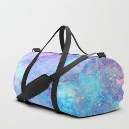 Bright Tarantula Nebula Aqua Lavender Periwinkle Duffle Bag