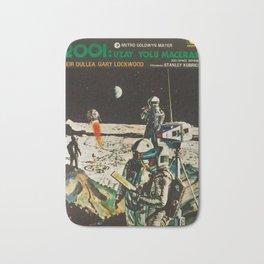 2001 A Space Odyssey 1968 Turkish Lobby Broadside Vintage Film Poster Bath Mat