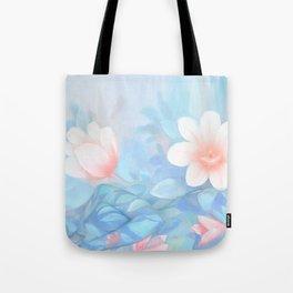 Blue Flowers Dream - Bodyart - Photography by Lana Chromium - beauty - woman - body - soul Tote Bag