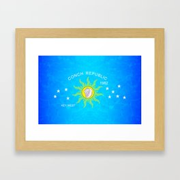 The Conch Republic Flag Framed Art Print